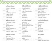 Instant Download - What's In Your Purse Bridal Shower Game - Green Chevron - Printable PDF