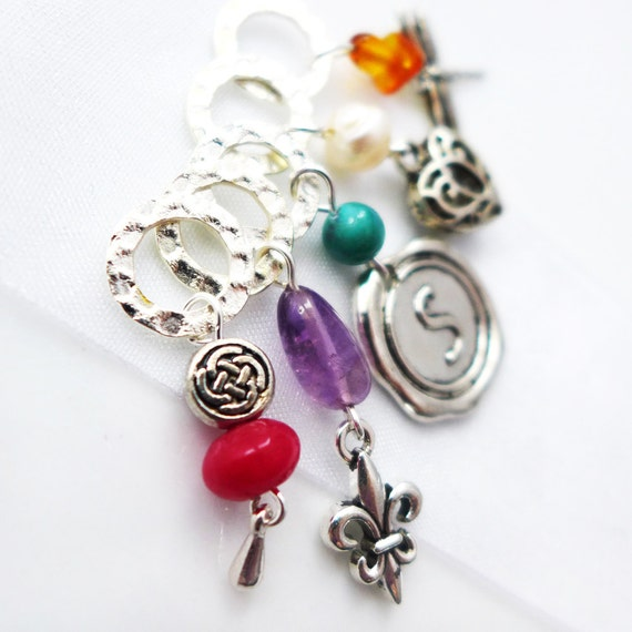 My Sassenach - Outlander Series - Five Handmade Stitch Markers - Fits Up To 6.5mm (10.5 US) - Limited Edition