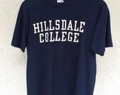 Vintage 60s Hillsdale college t shirt