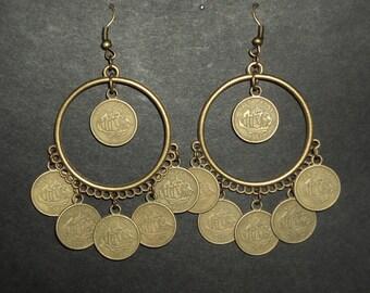Gypsy Queen - Brass earrings - Caravan Collection