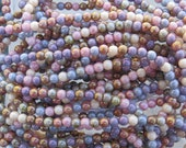 4mm Opaque Lumi Luster Color Mix Czech Glass Beads 15 Inch Strand - Qty 100 (BS555)
