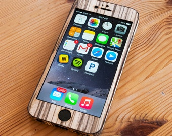 iPhone 6 / 6S Plus Wrap - Real Wood Wrap for the iPhone 6+ - Available in Bamboo, Zebrawood, Teak, Walnut & more!