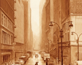 coffee art, New York, painted using only coffee, city, taxi, coffee break, espresso