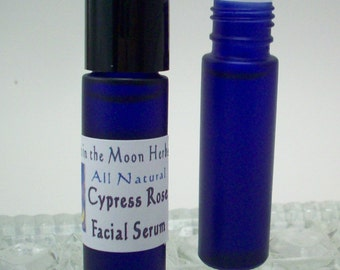 Facial Serum Roll On - Cypress Rose - Light Natural Moisturizer with Essential Oils