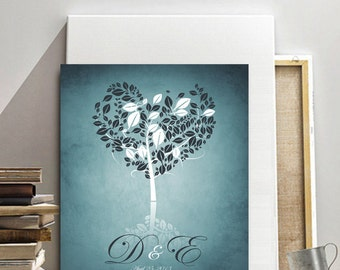 Personalized anniversary gift, Custom Family Tree, Tree with heart shaped leaves, i carry your heart, unique valentine gift, gift for wife