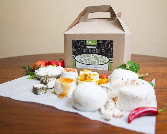Deluxe DIY Cheese Kit, Make Mozzarella, Ricotta, Goat Cheese, Paneer & Queso Blanco - 30 batches (cow milk and goat milk)
