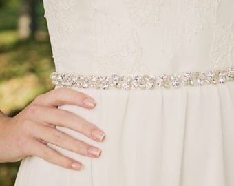 Crystal Bridal Belt | Bridal Sash | Wedding Sash | Wedding Dress Belt | Rhinestone Bridal Belt | Crystal Beaded Sash [Starbright Belt]