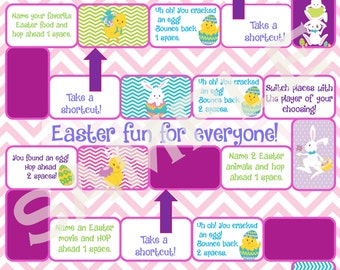 Easter Board Game Printable Party Activity or Party Favor