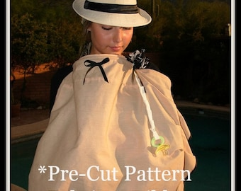 Sewing Kit-Designer Nursing Cover Kit Starter-Pre Cut Fabric Pattern and Carry Bag-Alicia Original Style-Bonus The Simple Mom Book
