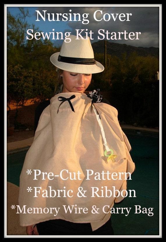 Book Cover Sewing Kit : Sewing kit designer nursing cover starter pre cut