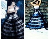 Designer Inspired Black And White Gothic Wedding Dress
