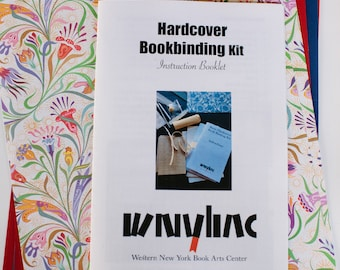 Hardcover Book Binding Kit- Makes 3 Books, DIY, Book Arts, How To, Handmade, Bookbinding
