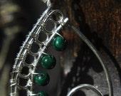 Paisley Earrings - Malachite