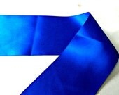 Royal Blue Satin Ribbon double sided: 4 inch wide by 1, 2, or 5 yards, More colors available