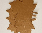 Large Paper Leaves in Metallic Gold-Set of 15 Leaves-Punch-Cut Outs-Wedding Seating-Escort Card-Wishing Tree Leaf-Earring Card-Ready to Ship