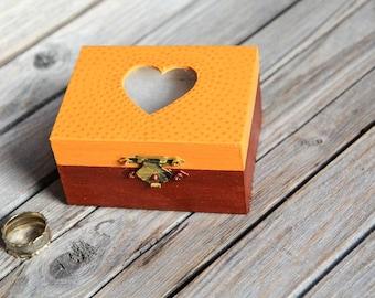 Heart Ring Bearer Box - Pillow Alternative - Spring Wedding