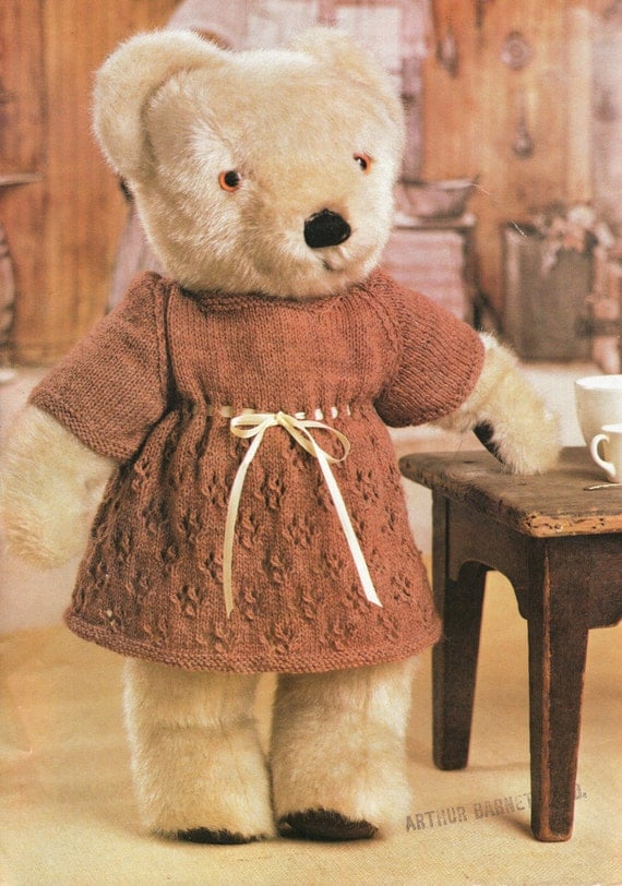 Teddy Bear Knitting Patterns Free Download : Post Free Knitting Pattern / Teddy Bear Clothes Knitting Pattern / 4ply Yarn ...