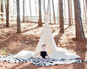 Play Teepee Tent | Reg/small size cotton indoor play teepee tent