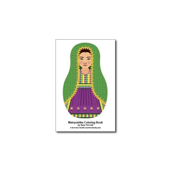 Matryoshkas (D) Mini Coloring Book Printable file