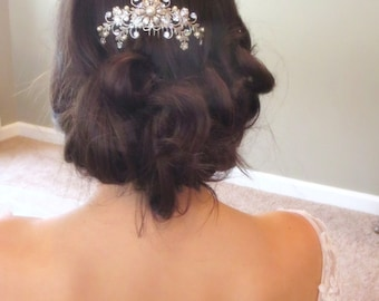 Bridal hair comb, Wedding headpiece, Rhinestone hair comb, Bridal jewelry, Swarovski headpiece, Bridal hair clip, Vintage style headpiece