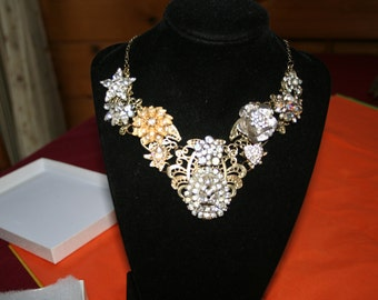 Diamond/ Glamour/ Bib/ Necklace
