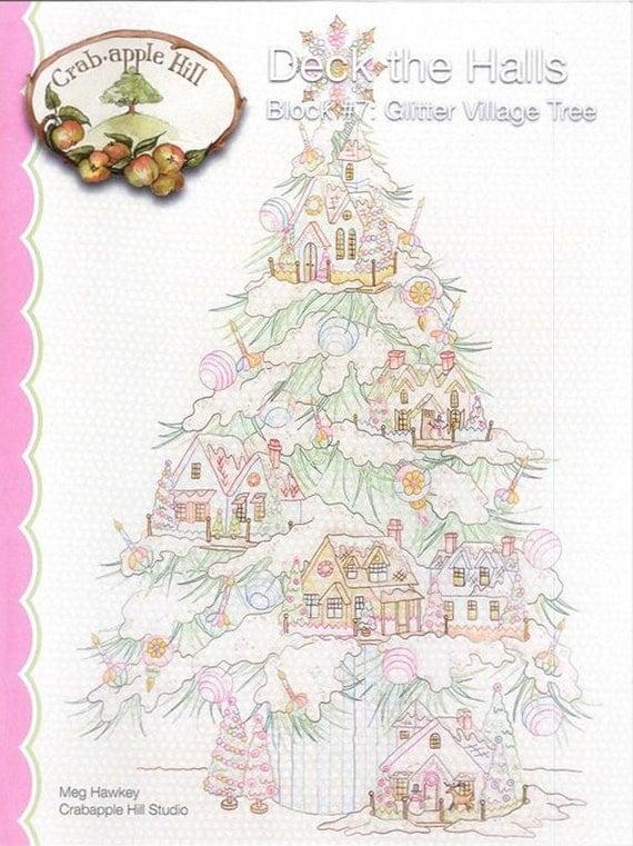 Crabapple Hill Studio Glitter Village Tree 2542 Hand