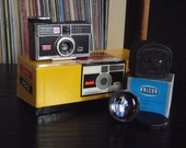 1960's Kodak Instamatic 400 Camera with Original Box & Kalcor Telephoto T-5 Lens Attachment