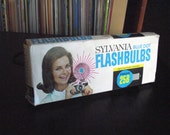 Full Box of Blue Vintage Sylvania 25B Flashbulbs