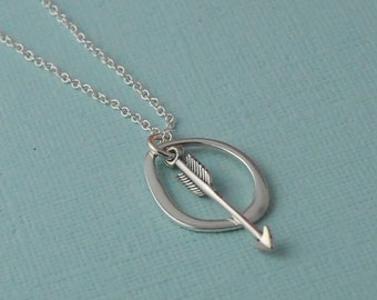 Sterling Silver arrow eternity necklace