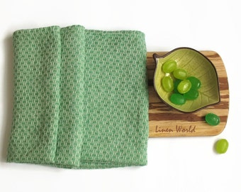 100% Softened Linen Tea Towel. Mint Green Pure Linen Tea Towel. Pistachio Green Linen Dish Towel. Natural Linen Kitchen Towel. Flax Towels