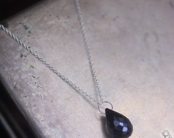 I don't shine if you don't shine...single spinel necklace in sterling silver