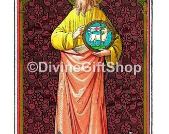 "Icon St. John the Baptist image of The The prophet 5"" X 7"" Print. Gorgeous Print."