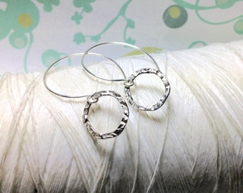 Eternity Circle  -  circle earrings / round earrings / silver hoops / hoop earrings / silver circles / modern earrings / dangle earrings