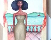 African American Greeting Card 'Her Last Goodbye'