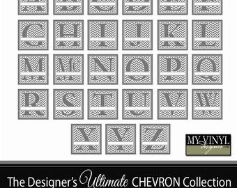 Chevron Monogram SVG, Alphabet Cuttable SVG, Font For Cricut, Last Name Initial, Chevron Monogram Font, Svg Gsd Eps Ai
