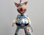 Henry O'Hare Bunnykins - Whimsical Easter  Bunny Paperclay Collectible Art Doll