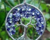 Amethyst Tree of Life Pendant - February Birthstone with Recycled Sterling Silver - Original Design by Ethora