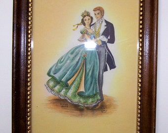 Vintage Picture, Stan David Picture, Original Stan David, Couple, Dancing, Early American, Home Decor, Free Shipping, Romantic, Shabby Chic