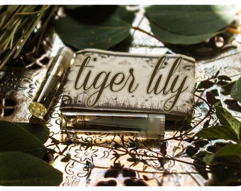 tiger lily - natural perfume oil mini sampler twin pack in aroma of calla lily & juniper