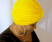 Stretch Velvet Turban Hat -SKU: WWJ272-  Made to order - Choose a color and Size