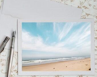 Beach Photo Notecard - Coastal Photo Note Card, Greeting Card, Stationery, Blank Notecard
