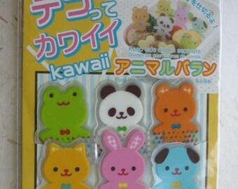 Cute Japanese Animal Bento Dividers - Set of 20