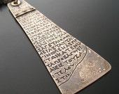 Ancient Script Pendant and Necklace