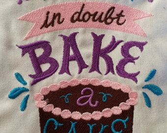 Mother's Day Gift - Apron - When In Doubt, Bake a Cake!