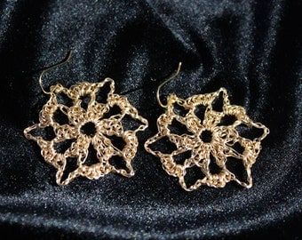 Starflake Earrings--Professional Wire Crochet