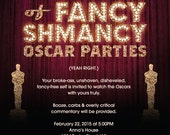 Fancy Shmancy Oscar Party Invitation Printable