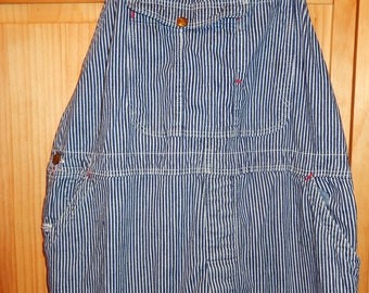 1930s Authentic RARE Blue Bell Denim Railroad Overalls-1 pair left Amazing like almost new-on left side