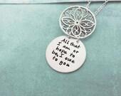 RESERVE  Secret message Necklace