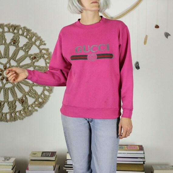 Pink Bootleg Gucci Sweatshirt M