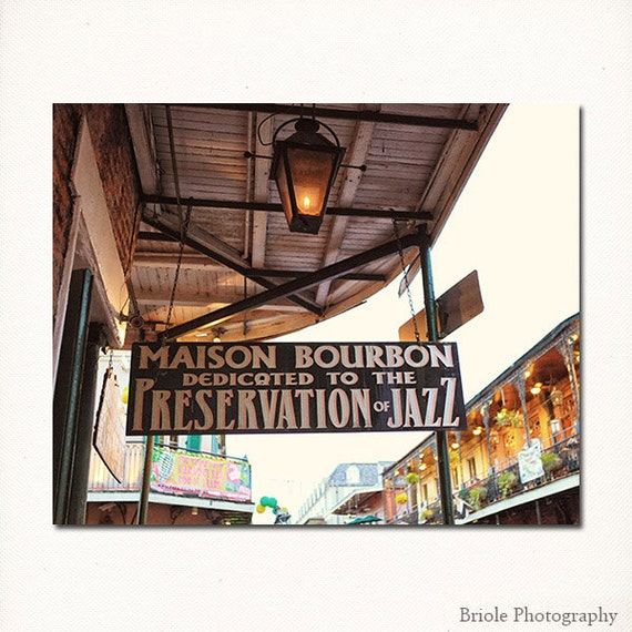 New Orleans Home Decor Stores: New Orleans Jazz Print. French Quarter Art Photograph. By